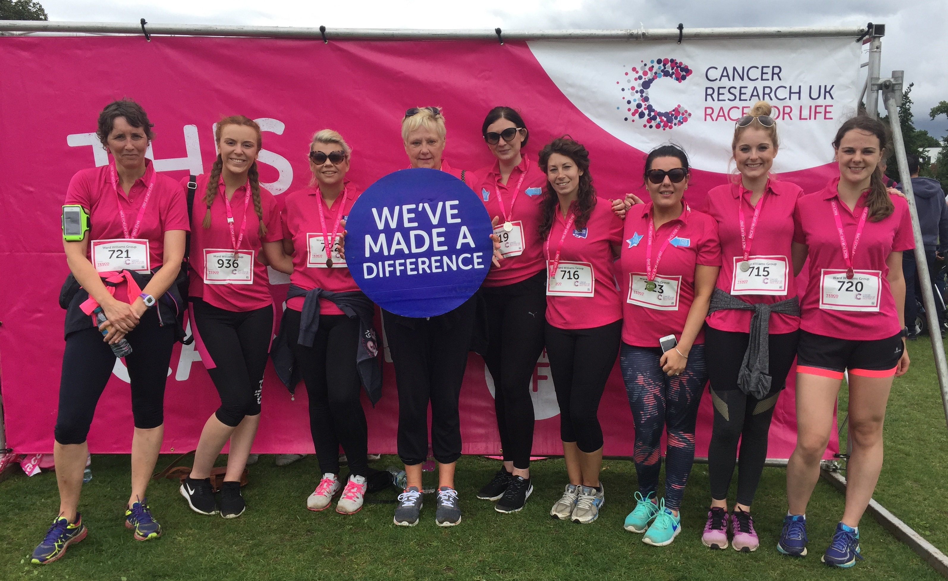 The ladies of Ward Williams HR Advisors in Race for life